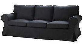IKEA Ektorp 3-Seater Sofa Cover Black