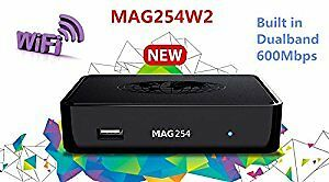 MAG254 W2 BUILT IN WIFI +1 YEAR IPTV SUBSCRIPTION NOW ONLY $200