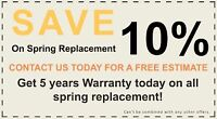 #1 Garage Doors Only This Week 2 SPRINGS For $179 *SAME DAY*