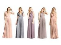 Two Bird Bridesmaid Dress - Classic Platinum 15 ways to tie