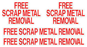 FREE PICK UP/REMOVAL of Scrap/Steel/Metal/Equipment/Appliances
