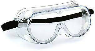 Clear Vented Safety Goggles Glasses For Work Lab Outdoor Eye Protection 1 Pair