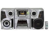Panasonic SA-AK44 CD stereo system 5 cd changer