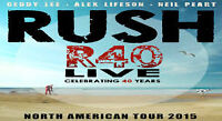 CLUBS 120 ROW 2, 4 IN 222 ROW 8 & MORE FOR RUSH ON WED 7/15 8:00