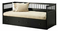 Ikea Hemnes Day Bed with 3 matresses (1 memory foam)