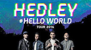 Hedley tickets for Victoria at cost. EXCELLENT SEATS!!