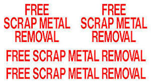 Free Scrap Metal/Appliance/Equipment Removal Services