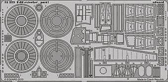 Eduard Accessories 32225 - 1:32 F-8J Exterior Für Trumpeter - Ätzsatz - Neu