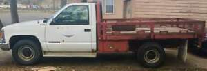 1994 GMC 3500 DIESEL with 9ft flat deck
