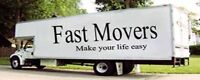 Fast Movers special(3men/26ft$110/hr—2men/17$65/hr) FREE BOXES