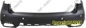 Bumper Rear Primed With Lane Keep Assist Acura MDX 2014-2016