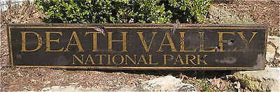 Death Valley National Park Painted Wooden Sign Huge