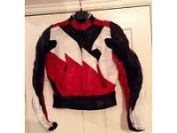 Ladies size 10 Frank Thomas black,red & white 2 piece Leathers fully armoured £80