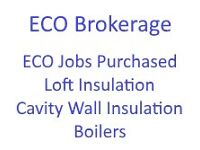 ECO Cavity Wall Insulation - Loft Insulation - Boilers - Jobs Purchased from Surveyors - All Areas