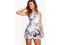 Floral Print Strappy Mini Dress 10