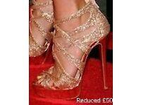Christian Louboutin balota 150 gold platformed heels 39/6