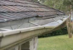 FALLING GUTTERS REPAIR FASCIA SOFFIT SIDING DAMAGE ROOF LEAK