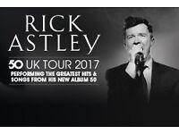 2 x Rick Astley Westonbirt tickets 17th June 2017