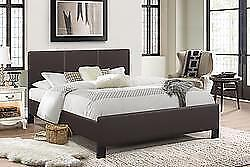 Double or Queen Brown Platform Bed now just $259. *No Box Spring Require Mattress Sold Separately.  Taxes incuded until