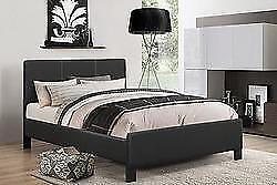 New!!!  Black Queen or Double Platform Bed with Mattress