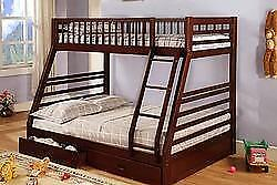 Twin over Full Bunk Bed with Trundle Drawers in Cherry   Starting bid: $545.00 Regular Retail $999