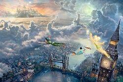 Tinker bell & Peter pan Night Light Thomas Kinkade
