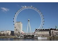 Two tickets for the London eye on Saturday 18th Feb 2017 at 2pm
