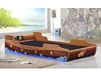 Caribbean Pirate Ship Bed - Single