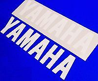 Yamaha WHITE 5in 12.7cm decal decals sticker r6 r1 fzr