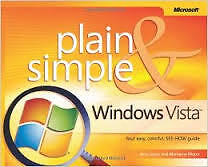 Plain & Simple Windows Vista Resource Book by Jerry Joyce Kingston Kingston Area image 1