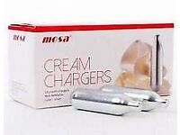 Cream chargers Mosa £280.00 wholesale