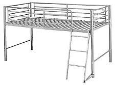 2 x High Metal Single Beds
