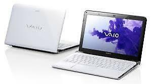 Sony Vaio 11.6 inch in white with SSD 1 TB, RAM 8 GB, bag comput