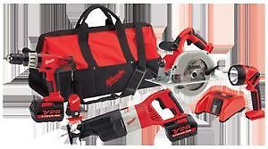 MILWAUKEE -KIT- ENSEMBLE DE 5 OUTILS INDUSTRIEL 28V