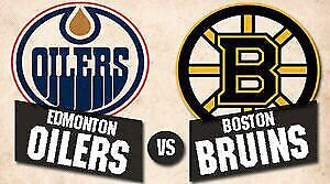 BELOW FACE VALUE Lower bowl Club Oilers vs Bruins (March 16)