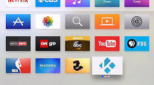 Install Kodi on your apple device or update android tv