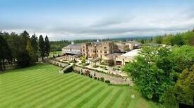 Luxury Week in 5 Star Lodge at Slaley Hall, Northumberland