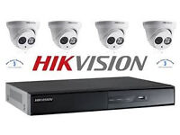 hikvision cctv camera 1 x dvr wd x4 cameras ahd system supplied and fitted