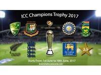 ICC Champions Trophy 2017 - SECOND SEMI-FINAL (A2 V B1) - 2 tickets