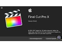 Final Cut Pro X 10.4 or Logic Pro X 10.4.1 for Macbook / Imac