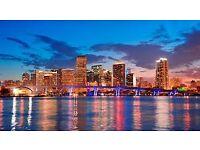 1 flight ticket, London- Miami, 22 May