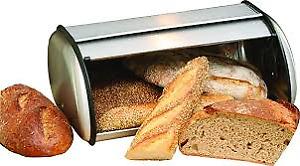 Roll Top Stainless Steel Bread Bin