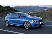 BMW 116D, blue, 60 plate