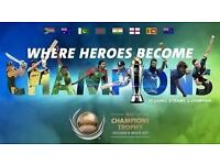 ICC Champions Trophy , New Zealand v Australia, Edgbaston, 4 x Adult Platinum Tickets Row E