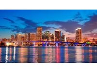 1 return flight ticket Dublin- Miami, 31.Mar-9.Apr