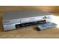 PANASONIC VHS VIDEO RECORDER WITH REMOTE CON TROL