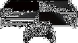 XBOX ONE - 500GB - 1 CONTROLLER - ALL LEADS