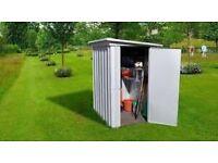 Yardmaster 3.9 X 5.2ft Single Door Metal Pent Roof Shed With Floor Supprt Frame (RRP £179.99)