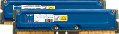 1GB (2 x 512MB) PC800 184-PIN RAMBUS RDRAM RIMM MEMORY RAM KIT FOR DESKTOPS/PCs 1 Gb Pc800 Rdram