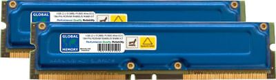 1gb (2 X 512mb) Pc800 184-polig ECC, Rambus Rdram Rimm Speicher Set Für 1 Gb Pc800 Rdram